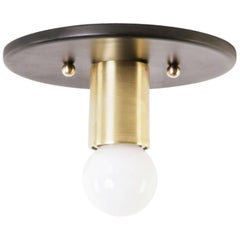Louis Flush Mount with Steel Canopy and Solid Brass Extension