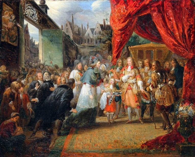 Louis XIV Entering Paris - Oil on Canvas - French - 1830