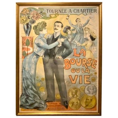 Louis Galice Original Poster Tournee a Chartier 'La Bourse Ou La Vie'