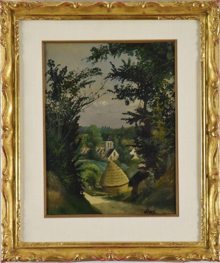 Louis Hayet Figurative Painting - Paysage by LOUIS HAYET - Art, French Post-Impressionist Painter, Landscape