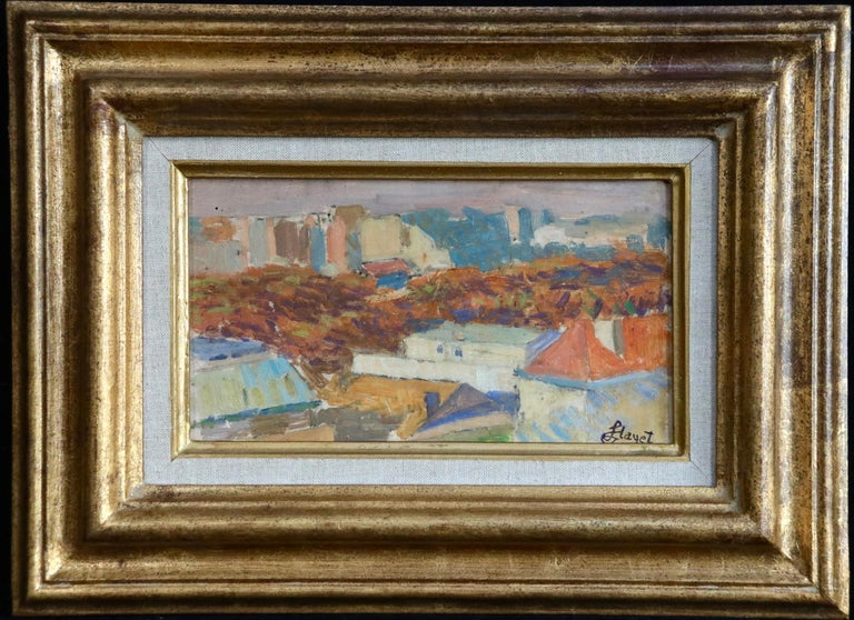 Rooftops of Paris from Montmartre - 20th Century Oil, Landscape by Louis Hayet For Sale 1