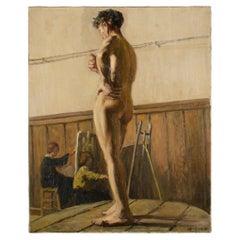 Louis Henri Revillon 'French, 19th Century' Nude Male Model