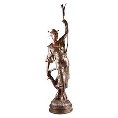 Louis Hottot Statue, Impressive Oriental Female Figure