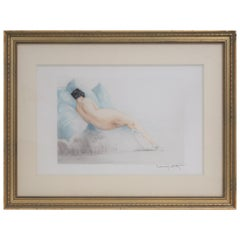"Louis Icart, ""Boudeuse"", 1930, Pencil signed Etching"