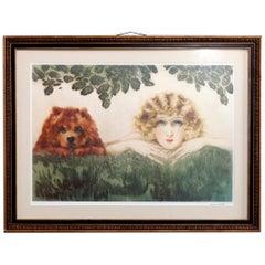 "Louis Icart Print of ""Two Beauties"", 20th Century"