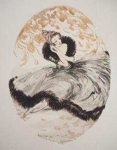 Dreaming Girl - Original etching