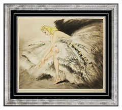 Louis Icart ETCHING Hand Signed Original Color Art Deco Authentic Fair Dancer