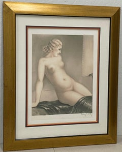 "Louis Icart (French, 1888-1950) ""Nude Model"" Etching W/ Aquatint C.1933"