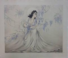Wisteria (Les Glycines) - Original handsigned etching - 1940