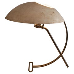 Louis Kalff for Philips Table Lamp 'NB100' in Patinated Metal
