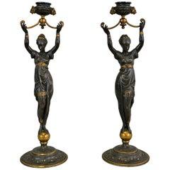 Louis Kley, Pair of Bronze, circa 1890