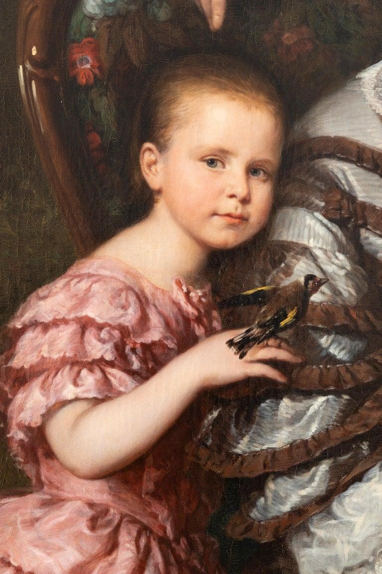 Romantic Ludwig Krevel Family Portrait