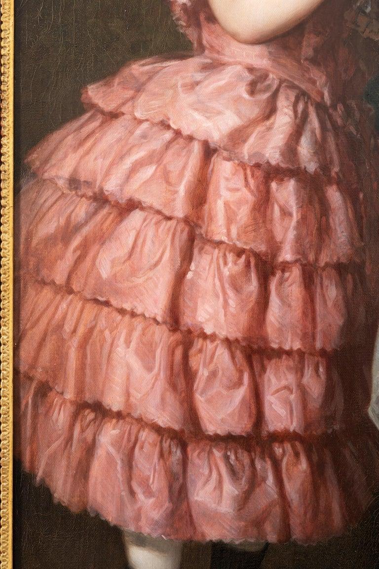Painted Ludwig Krevel Family Portrait
