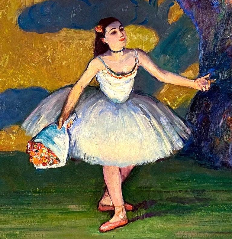 La Premiere Danseuse - Post-Impressionist Painting by Louis Kronberg