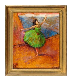 Louis Kronberg Original Dance Ballerina Oil Painting On Board Signed Artwork SBO