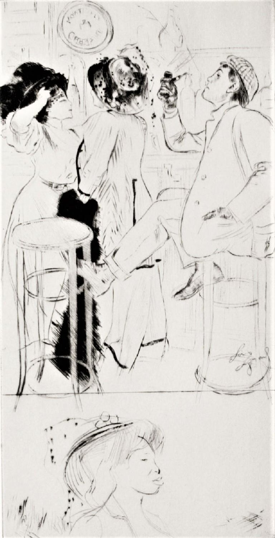 Sportsmen - Beige Figurative Print by Louis Legrand