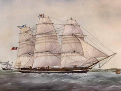 Anglesey Clipper Anglais des années 1848-1860, signed oil painting