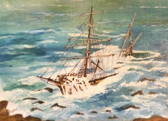Cromdale Shipwreck, signed oil painting