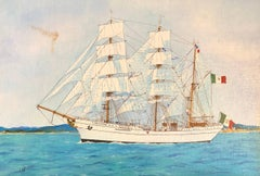 Cuauhtémoc, signed oil painting