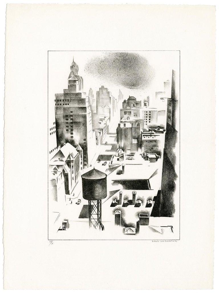 Madison Avenue - Print by Louis Lozowick
