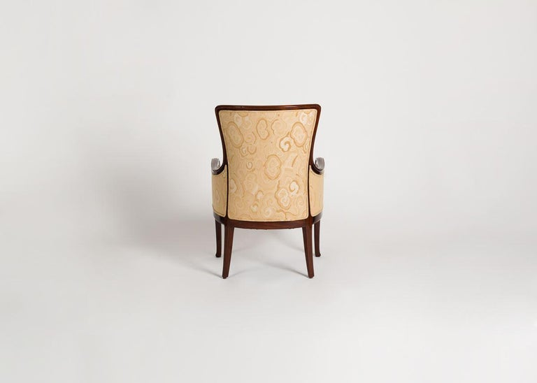Louis Majorelle, Art Nouveau Mahogany Desck Chair, France, circa 1925 In Good Condition For Sale In New York, NY