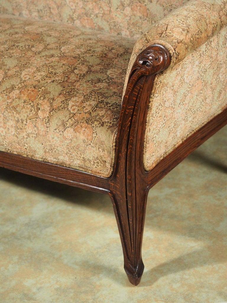 French Louis Majorelle Art Nouveau Full-Length Sofa For Sale