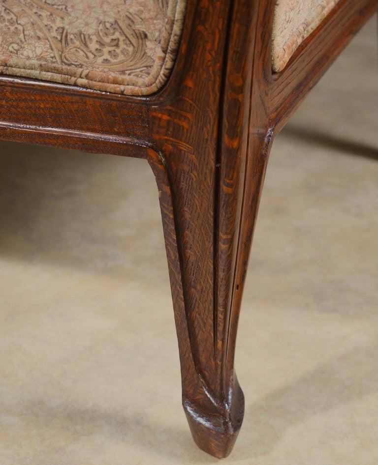 Louis Majorelle Art Nouveau Full-Length Sofa In Excellent Condition For Sale In Philadelphia, PA