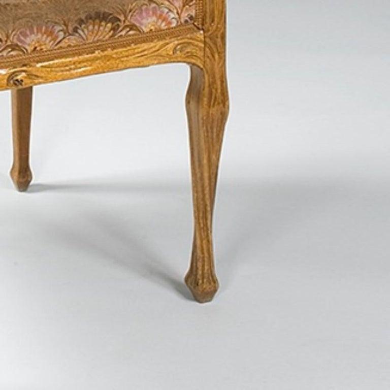 Hand-Carved Louis Majorelle French Art Nouveau Armchair For Sale