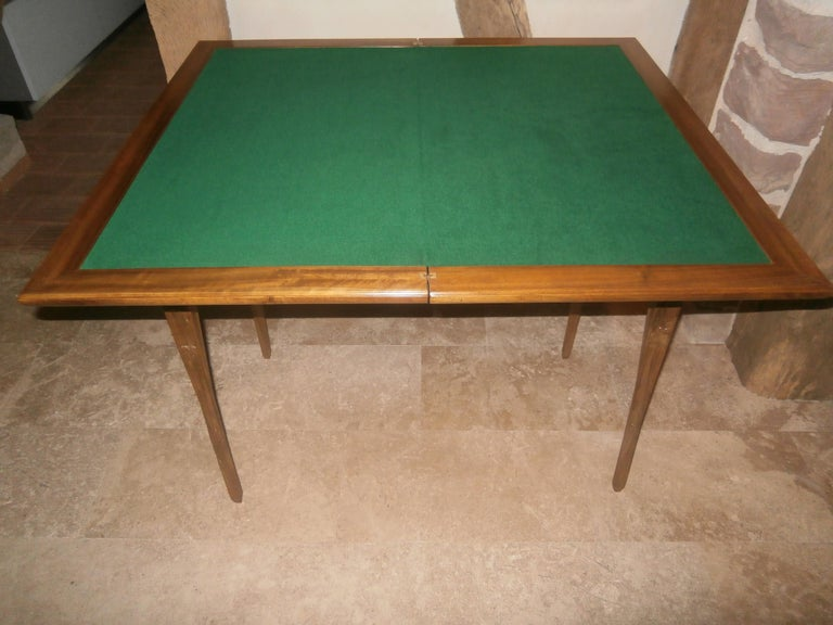 Marquetry Louis Majorelle French Art Nouveau Game Table, France, 1900 For Sale