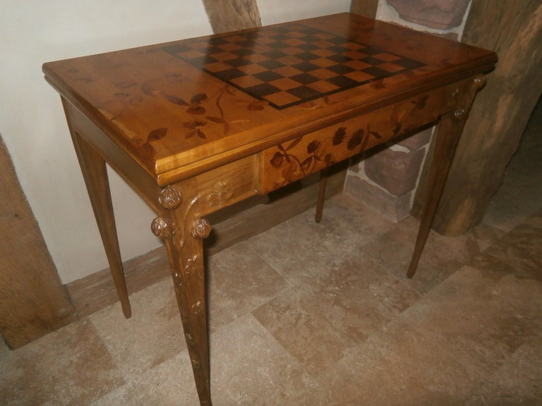 20th Century Louis Majorelle French Art Nouveau Game Table, France, 1900 For Sale