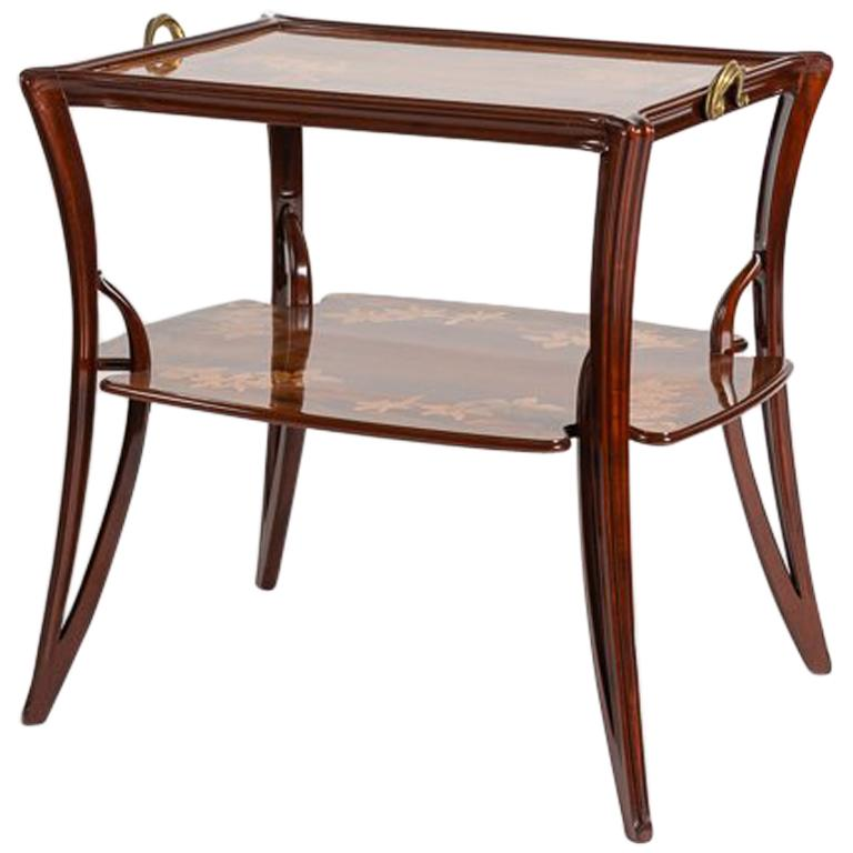 "Louis Majorelle, ""Olga, Model no. 323"" Art Nouveau Side Table, France circa 1900 For Sale"