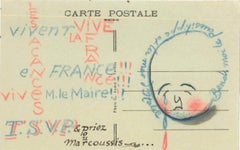 Postcard from Louis Marcoussis to Countess Pecci Blunt, from Gadencourt