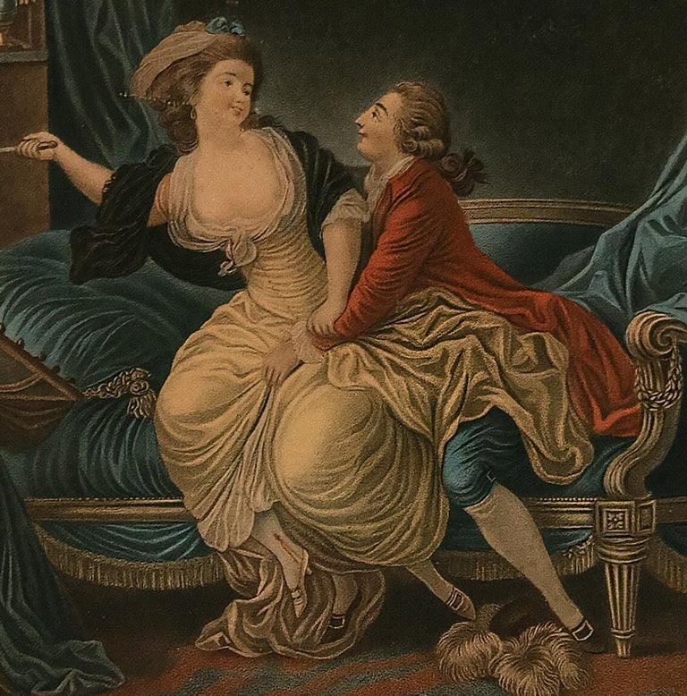 Intimacy - Original Etching by L-M Bonnet - Late 18th Century - Print by Louis-Marin Bonnet