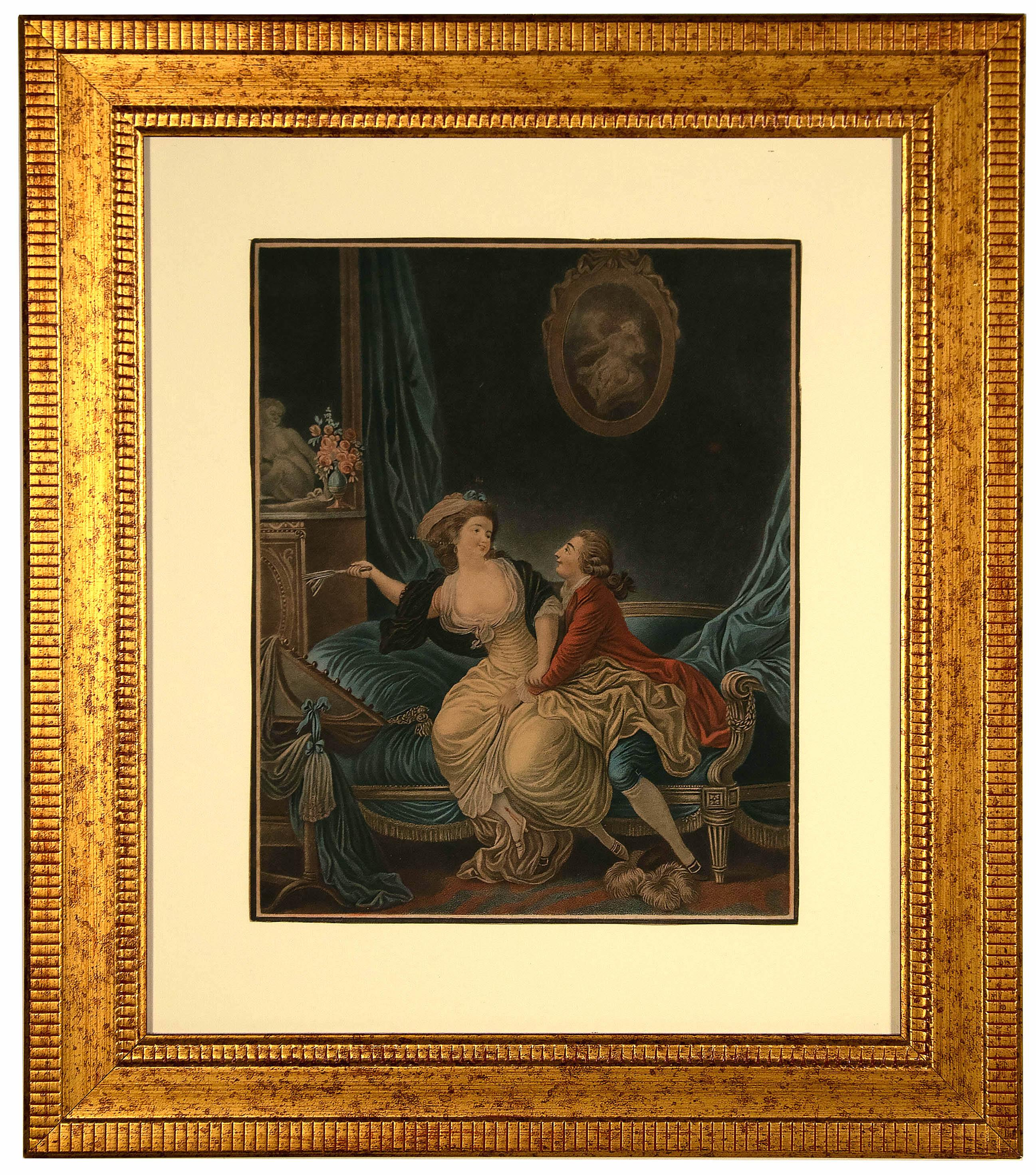 Intimacy - Original Etching by L-M Bonnet - Late 18th Century