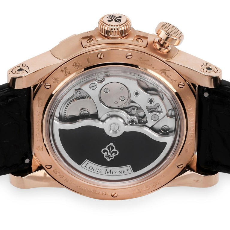 Louis Moinet invents the first 'chronograph-watch' in history.  In honor of the memory of its illustrious founder- and on the occasion of the tenth anniversary of its rebirth- Louis Moinet unveils a visionary creation, positioning the chronograph