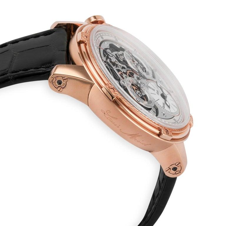 Men's Louis Moinet 18 Karat Rose Gold Memoris Chronograph For Sale