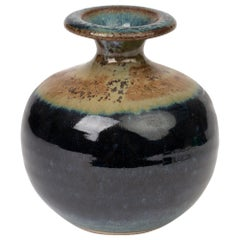 Louis Mulcahy Irish Studio Pottery Brushed Oxide Vase