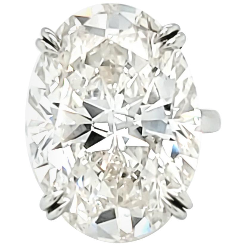 Louis Newman & Co GIA Certified 23.88 Carat Oval Cut Diamond Ring