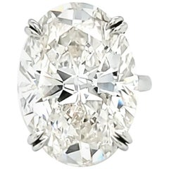 Louis Newman & Co GIA Certified 23.88 Carat Oval Cut Diamond Ring