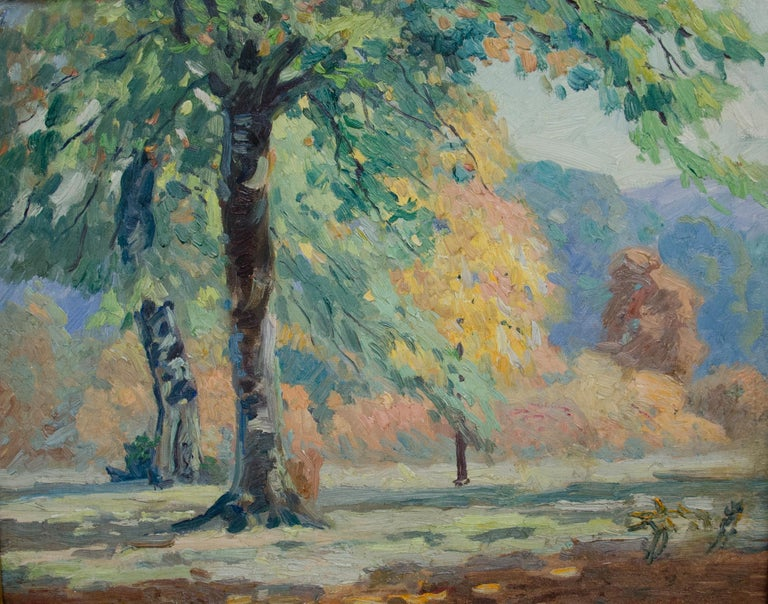 Louis Oscar Griffith Landscape Painting - Autumn Afternoon (Brown County, Indiana) Landscape with colorful trees