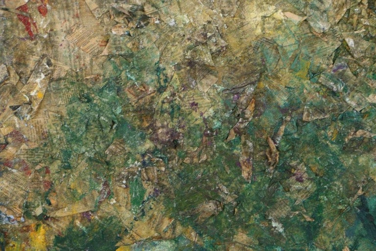 American Louis Papp, Abstract Mixed-Media Artwork, 1987