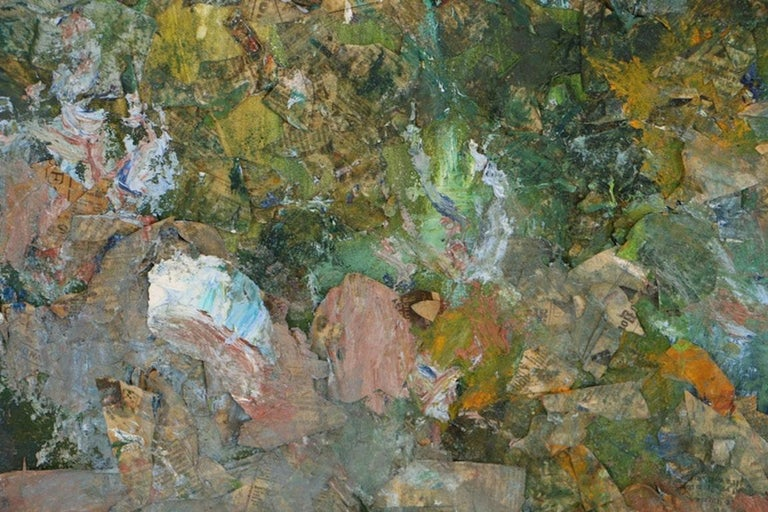 Louis Papp, Abstract Mixed-Media Artwork, 1987 In Good Condition In Chicago, IL