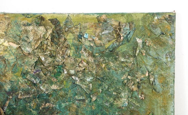 Late 20th Century Louis Papp, Abstract Mixed-Media Artwork, 1987