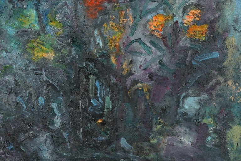 Louis Papp (New york, 1930- 2012) was a New York artist and a member of the Arts Student League - a renowned Manhattan art school in the 1970s and 1980s. His use of color and texture is known for provoking emotion and energy.   This abstract mixed