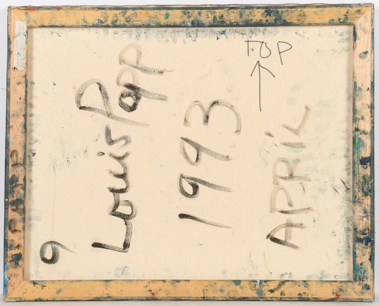 American Louis Papp, Abstract Mixed-Media Artwork, 1993