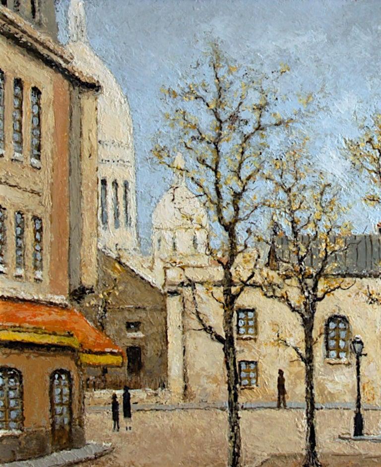 Place du Tertre, Montmartre, Paris - Impressionist Painting by Louis Peyrat
