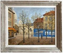 Louis Peyrat (1911-1999), Place du Tertre, Montmartre, Paris, Oil on Wood Panel