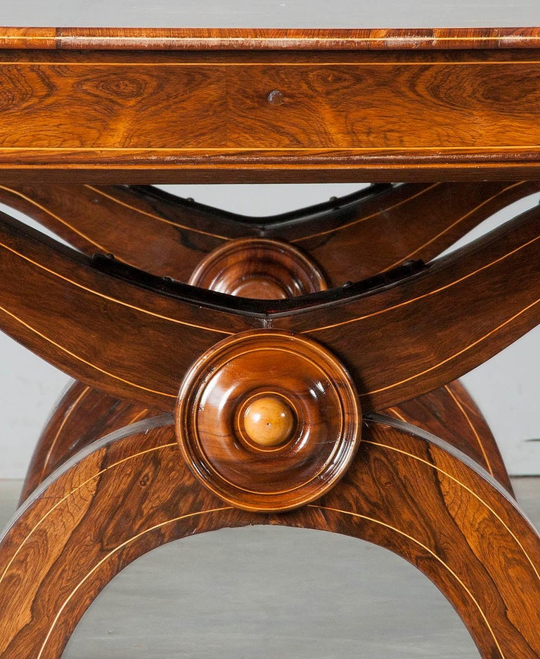 Louis Philipe Mahogany Veneered Centertable or Writing Table, France circa 1850 For Sale 6