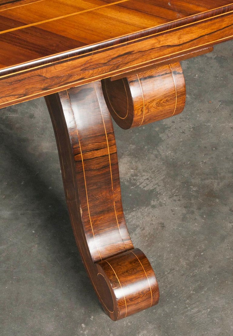 Louis Philipe Mahogany Veneered Centertable or Writing Table, France circa 1850 For Sale 11
