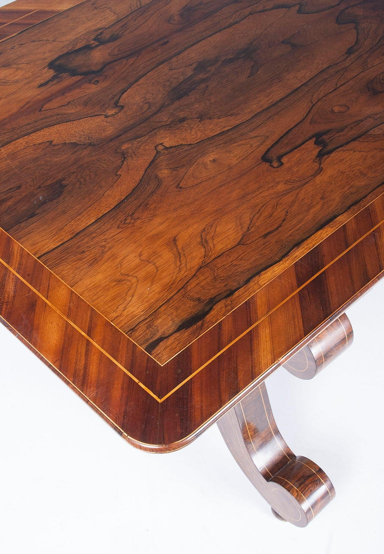 20th Century Louis Philipe Mahogany Veneered Centertable or Writing Table, France circa 1850 For Sale